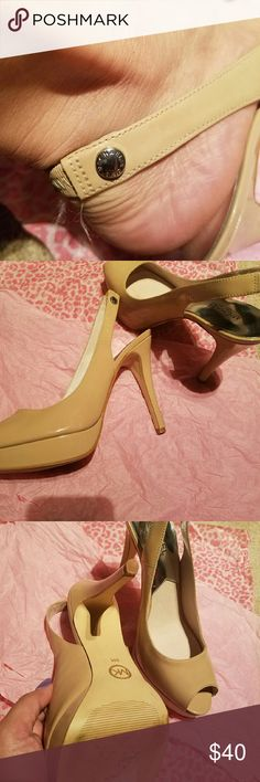 Shoes MK nude 5 inches sling back high heels, ita very comfortable and sexy. Michael Kors Shoes Platforms