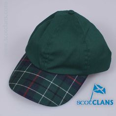 Baseball cap with skip in Duncan Modern Tartan - from ScotClans