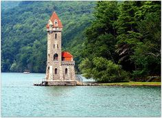 Kingfisher Tower on Otsego Lake - Cooperstown, New York. New York Vacation, New York Travel, Canada Travel, Travel Usa, Canada Trip, Oh The Places You'll Go, Places To Visit, Cooperstown New York, Otsego Lake