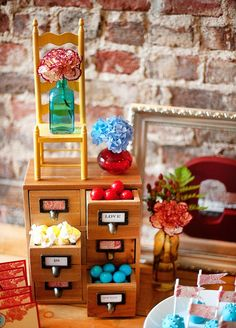 Lovely Rustic-Modern Fall Bridal Shower // Hostess with the Mostess® Kids Party Menu, Candy Display, Bridal Shower Rustic, Wedding Arrangements, Wedding Reception Decorations, Modern Rustic, Elegant Wedding, Lolly Buffet, Candy Buffet