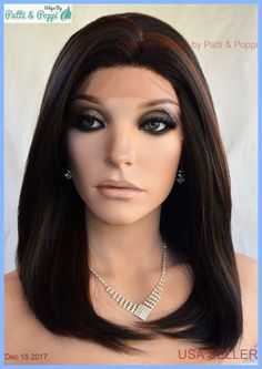 Lace Front Wig HAND TIED HEAT FRIENDLY FS4.30 SOFT STRAIGHT LAYERS USA 1268 #sepia