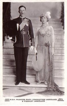 Princess Royal Mary with Viscount Lascelles Earl of Harewood ,