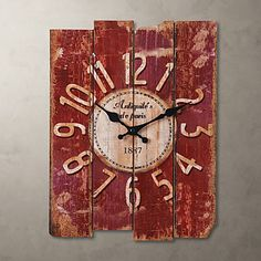 "15 ""Reloj de pared de estilo vintage país – USD $ 34.99"