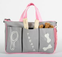 Gray/Pink: Dog Travel Bag holds your dog's traveling necessities. Grab it & go! by DogTravel on Etsy https://www.etsy.com/listing/229814371/graypink-dog-travel-bag-holds-your-dogs