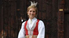 Traditional norwegian wedding outfit