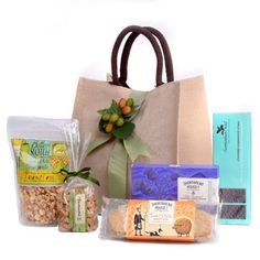 Sweet & Salty Snacks Gift Tote Gourmet Food Gifts  |  SavoryPantry.com