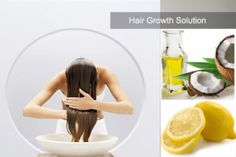 Lemon juice and coconut oil for hair growth | Home Made Remedies