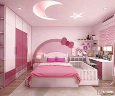 Bedroom Wall Designs, Bedroom Bed Design, Home Room Design, Kids Room Design, Modern Bedroom, House Ceiling Design, Bedroom False Ceiling Design, False Ceiling Living Room, Bedroom Ceiling