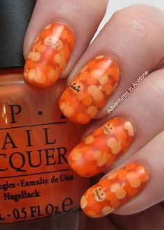Pond Pumpkins Halloween Nail Art! - Adventures In Acetone