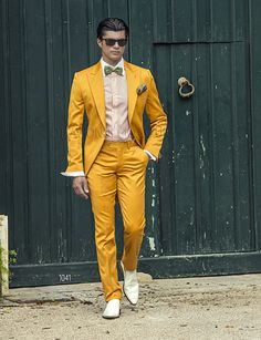 Be as bright as the sun in this yellow suit.