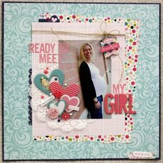 A Project by Sheri Feypel from our Scrapbooking Gallery originally submitted at PM Pregnancy Scrapbook, Baby Girl Scrapbook, Baby Scrapbook Pages, Kids Scrapbook, Wedding Scrapbook, Scrapbook Paper Crafts, Scrapbook Cards, Pregnancy Pics, Pregnancy Journal