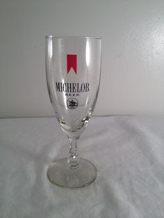 Michelob Beer, beer glass, 1896, 7.5in by ugliducklings on Etsy