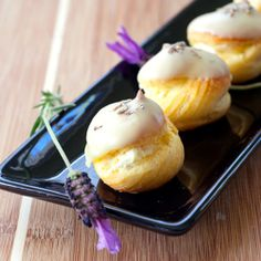 White Chocolate Cream Puffs with Lavender