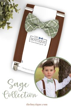 Looking for the perfect sage bow ties for your little boys? We have a range of bow ties and suspenders to match your sage bridgesmaid dresses. Click through to sell all of our color and style options! #sagebowtie #sageweddingsuspenders #bowtieandsuspenders #weddingaccessories #weddingattire #ringbearer #weddingplanning Groomsmen Outfits, Groom And Groomsmen Attire, Suspenders, Ring Bearer Gifts, Ring Bearer Outfit, Wedding Ring For Her, Bow Tie Wedding, Sage Color Palette