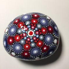 Hand Painted Mandala Stone, Mandala Meditation Stone, Dot Art Stone, Healing Stone, #333 by MafaStones on Etsy
