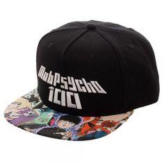4706c43ee8ef9 Anime Mob Psycho Snapback Cap Hat Licensed NEW Authentic