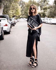 Pure black silk