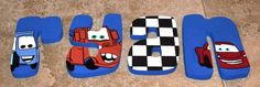 Personalized, Hand Painted Wall Plaques for Nurseries and Kids' Rooms - CARS Theme Disney Pixar.
