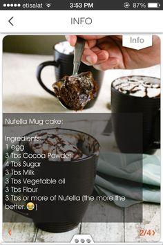 Nutella Brownie In A Mug #Food #Drink #Trusper #Tip