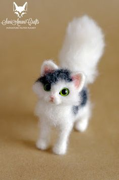 SaniAmaniCrafts: Cat miniature needle felted sculpture