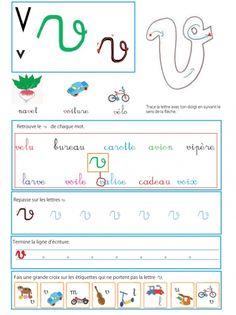 Page sur le v - Livre GS / CP sur les minuscules