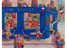 Le Bowler - Huile sur toile - 50 x 65 cm. Decoupage, Retro, Drawings, Paintings, Laminas Vintage, Manualidades, Oil On Canvas, Board, Paint