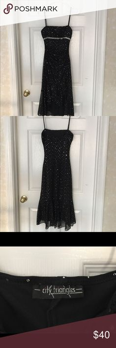 Black Evening/Cocktail Dress Size Small Black Evening/Cocktail Dress Size Small-good condition-lightly padded-City Triangles- Beautiful! Dresses