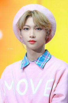 """""""Stray kids wearing pink, a wholesome thread:"""" Felix Stray Kids, Fandom, Australian Boys, Kid Memes, Lee Know, Kpop Boy, K Idols, Pop Group, Lee Min"""