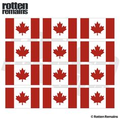 "Canada Flag Decal 12 2""x1.2"" Canadian Vinyl Hard Hat Helmet Sticker Adhesive Vinyl, Helmet, Decals, Flag, Stickers, Hats, Tags, Hockey Helmet, Hat"