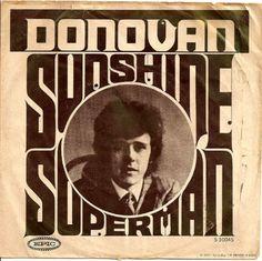 "Donovan ""Sunshine Superman"" (1966) — 45 rpm record sleeve"