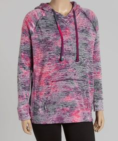 Look at this TROO Raspberry Burnout Hoodie - Plus on #zulily today!