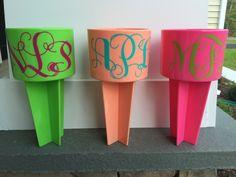 Spiker, Personalized Spiker, Monogram Spiker, Beach Spiker, Cup Holder, Beach Accessories by DawsonDesignsDecor on Etsy