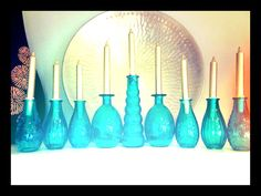 Simple, Classic Upcycled Bottle Menorah