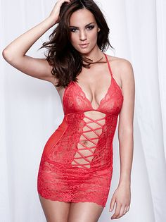ed3cc5e3ee CrissCross Lace Chemise Dress Up Outfits