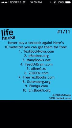 College books on High School Hacks, College Life Hacks, Life Hacks For School, School Study Tips, College Tips, Life Hacks Math, College Books Free, College Checklist, College Dorms
