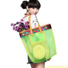 Liebo New Embroidery Transparent Nylon Shoulder Bag