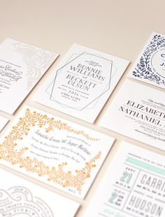 #letterpress #weddingstationery from @minted