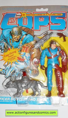 Cops 'n Crooks BOWZER BLITZ c.o.p.s. hasbro toys 1988 vintage action figures moc