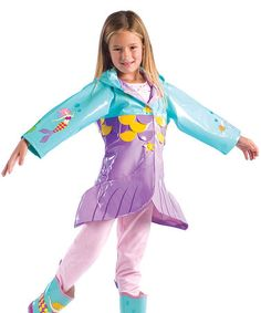 Take a look at this Aqua Mermaid Raincoat - Infant, Toddler & Kids by Kidorable on #zulily today!