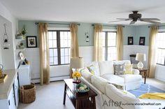 Living room - Walls are BM Wythe blue