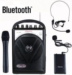 Hisonic Portable Rechargeable Bluetooth PA System with Wireless Microphones, 1 Bodypack/Blutooth Bluetooth Gadgets, Car Bluetooth, Bad Video, Portable Speaker System, Audio Equipment, Musical Instruments, Cable, Top Rated, Cabo