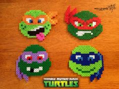 TMNT Perler Beads by RockerDragonfly