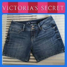 Vs Hipster Shorts In perfect condition has distressed style and two front buttons. Victoria's Secret Shorts Jean Shorts