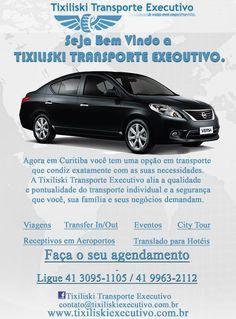 Seja Bem Vindo a TIXILISKI TRANSPORTE EXECUTIVO. Agora você tem uma opção de transporte que condiz exatamente com as suas necessidades. (41) 9963-2112 Curitiba - Paraná Curitiba - Paraná