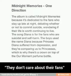 This.. This is just beautiful.. I suffer from depression and self-harm, and these boys are giving me the strength to keep going... I love these guys so much... ❤