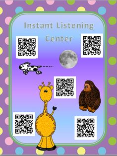 Free instant listening center. Uses QR codes. Start school the easy way!