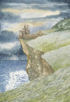 """The Princess and the Pea - Feminist Fairytales illustration. An illustrated book of five traditional fairytales, retold with a feminist twist. """"Once upon a time a quiet, lonely Prince lived in a castle by the edge of a stormy ocean..."""""""