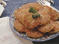 Traditional Passover Dinner - Betty Crocker- potato kugel puffs