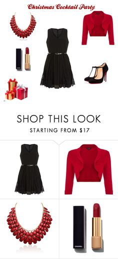 """Christmas"" by azraa-tursunovic ❤ liked on Polyvore featuring Mela Loves London, Phase Eight, Chanel, Christian Louboutin, women's clothing, women's fashion, women, female, woman and misses"