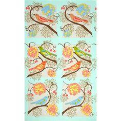 Valori Wells Nest Bird Panel Autumn Green